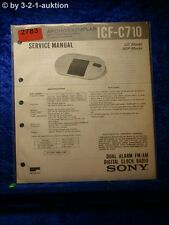 Sony Service Manual ICF C710 Radio Clock (#2783)