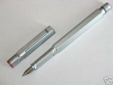 ROTRING 600 SILVER HEXAGONAL FOUNTAIN PEN NEW IN BOX FINE  PT WITH A CONVERTER