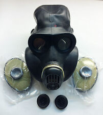 Soviet russian black rubber gas mask PBF EO-19 size 2 medium