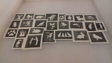 30 x cute & funny animal theme mini small stencils for etching on glass hobby