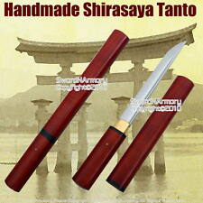 Shirasaya Tanto Handmade Japanese Samurai Sword Sharp