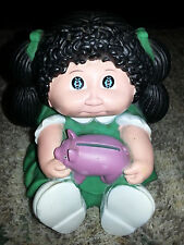 """1983 CABBAGE PATCH KIDS Vintage 7"""" COIN BANK Piggy Bank PLASTIC DOLL FIGURINE"""