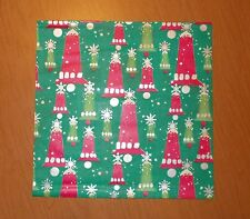 VTG MERRY CHRISTMAS WRAPPING PAPER GIFT WRAP ATOMIC AGE 1950 DENNISON SNOW BELLS