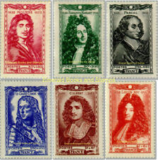 EBS France 1944 Famous People of 17th Century YT 612-617 Michel 624-629 MNH**