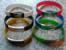 ENGRAVED / PERSONALIZED FREE Rubber Silicone Bracelet