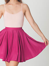 American Apparel Fuschia Hot Pink Short Gore Full Circle Skirt High Waist XS