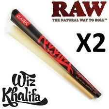 2X RAW Wiz Khalifa Supernatural Large XXL 12 Inch Pre Rolled Cone - HUGE!