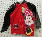 Minnie Mouse Toddler Girl's 4T Red Rain Slicker Raincoat