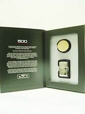 Zippo® 500 Million Sammler - Stamped Oval Brass Blank - Serialized limited Ovp