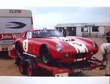 Photograph - John Williment AC Daytona Cobra Coupe, Snetterton, 1963?