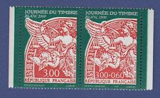 B14) Lot x2 timbres FRANCE Neuf-MNH ns°3135/3136 Blanc Journée du timbre PAIRE