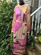 Vintage 60's/70's Gene Berk Paganne Too Dress, Signed Fabric -Sz XS S