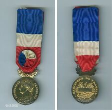FRANCE MILITARY CIVILIAN FRENCH MEDAL OF HONOR FOR WORK VERMEIL BORREL 2nd TYPE