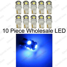 10-Piece Super Bright Ultra Blue T10 168 194 2825 5SMD Wholesale LED Bulbs