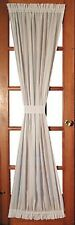 "Rustic Country Primitive WHITE Single Door Panel Curtain w Tieback 63"" Shabby"