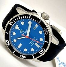 New Deep Blue Master 1000 Blue Black Automatic Sapphire Crystal Mens Watch