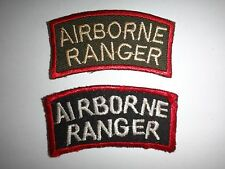 Set Of 2 Vietnam War AIRBORNE RANGER Arc Color And Semi-subdued Patches