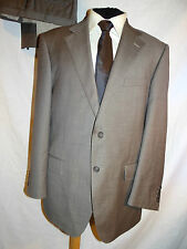M & S -COLLEZIONE ELEGANT NEUTRAL/BROWN CERRUTI FABRIC DRESS SUIT UK 42 EU 52