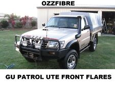 NISSAN PATROL GU UTE FRONT FLARES WITH RUBBER PIPING 4X4 FIBREGLASS