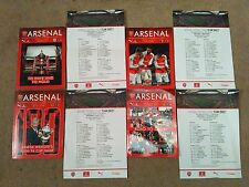 ARSENAL FA CUP PROGRAMMES AND TEAMSHEETS FROM 2015/16