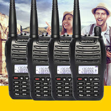 4pcs Baofeng UV-B6 Walkie Talkies Set 2 Way Ham Amateur Radio Dual Band Handheld