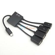 Micro USB Charging OTG Hub Splitter Cable for Smartphone Samsung Galaxy S4 Nexus
