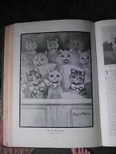 Louis Wain Artist Cats Cat Pantomime Rare Old Victorian Antique Plate Print 1898