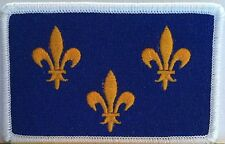 Île-de-France PARIS Flag  Iron-On Patch  Isle of France Emblem White Border