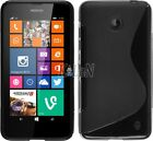 Soft Rubber TPU Gel Silicone Case Skin Cover For Nokia Lumia 630 / 635