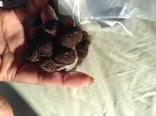 "Human hair EUROPEAN WAVE #5 18"" hand tied weave 2 pieces"