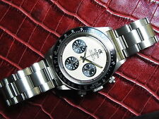 Alpha Watch Daytona Paul Newman Chronograph With Rivet Band *Ebay Lowest Price*