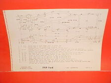 1959 FORD FAIRLANE 500 GALAXIE SUNLINER CONVERTIBLE ONLY FRAME DIMENSION CHART