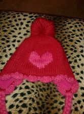 GIRLS NEXT WINTER BOBBLE HAT SUITABLE FOR AGE APPROX FROM 7-10 YEARS.