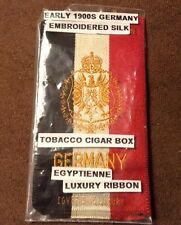 Tobacco Cigarette Silk, Germany, Egyptienne Luxury Ribbon, Early 1900s