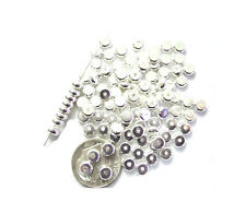 50 Silver Plated Thick Heishe Metal Spacer Beads 4MM
