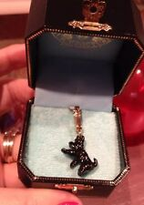NIB, 100% AUTHENTIC, JUICY COUTURE Black Scotty Dog/ Doggie CHARM w/Gold Clasp
