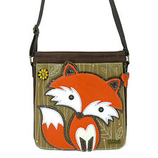 """Chala"" functional but playful Deluxe Messenger Bag - FOX - #CHL-817FX7"