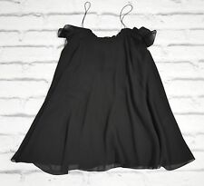 Slimane: Saint Laurent SS13 Black Chiffon Super Flare Mini Dress NWT FR40/UK12