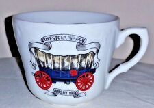 Vintage Americana Porcelain Mustache Cup-Made in Japan Conestoga Wagon