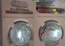 2008 NGC PF70 Austria SILVER Royal State Railway Locomotive KKSTB 310 PROOF 70