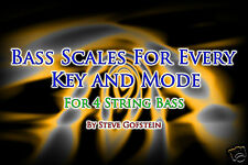 2 BOOK BUNDLE 4 STRING BASS GUITAR SCALES AND MODE CHARTS AND CHORD TONE CHARTS