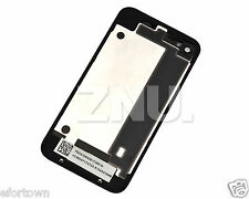 NEW VITRE ARRIERE POUR IPHONE 4 4G GSM BACK COVER - COQUE FACADE FACE NOIR