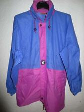 Veste K-WAY violet mauve windbreaker nylon coupe vent S capuche