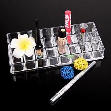 24 Trapezoid Crystal Clear Makeup Display Lipstick Stand Case Organizer Holder