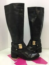 Vince Camuto Finella Women's Black Leather Riding Boot 8.5M
