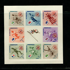 Dominican Republic 1956 Olympics Scouts B6-10+CB4-6var Set of 2 Imperf  Sheets