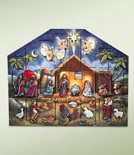 Byers' Choice Wooden Advent Calendar Holz Adventkalender - Nativity Crèche