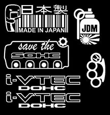 JDM 5 Sticker Pack Honda Low Life Stance Simply Clean Vinyl Decal
