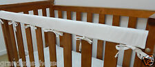 Baby Cot Rail Cover Crib Teething Pad - Classic White - 100% Cotton