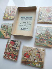 RARISSIME lot de 3 anciens mini puzzles Mickey Jigsaw Walt Disney Match Vera